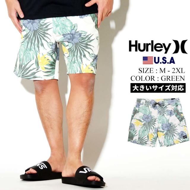 Hurley ハーレー スイムパンツ 水着 メンズ 花柄 BEACHSIDE ISLANDER 18 CJ6260 グリーン
