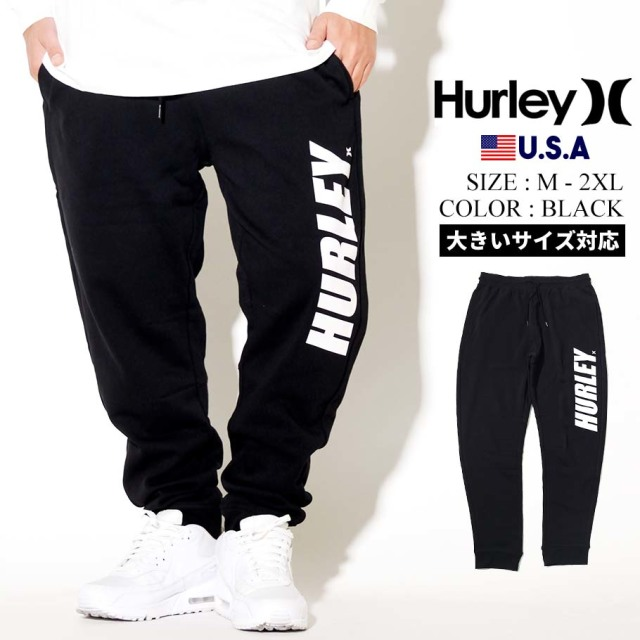 Hurley ハーレー スエットパンツ メンズ ロゴ FASTLANE FLEECE PANT CK5261/ブラック