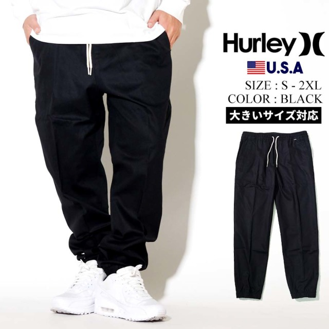 Hurley ハーレー ジョガーパンツ メンズ ONE ONLY STRETCH JOGGER CT0015 ブラック