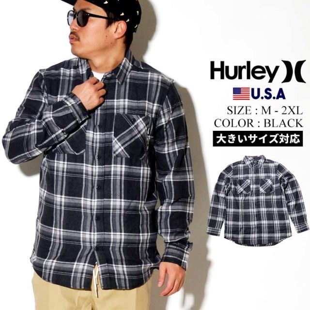 Hurley ハーレー ロンT 長袖Tシャツ メンズ POT O WAVES LONG SLEEVE TEE CN5243 ブラック