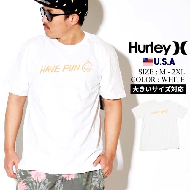 Hurley ハーレー 半袖 Tシャツ メンズ ロゴ 花柄 HAVE FUN SHORT SLEEVE TEE CN5245 ホワイト