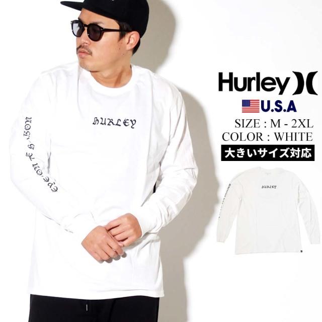 Hurley ハーレー ロンT 長袖Tシャツ メンズ EYE TOWER LONG SLEEVE TEE CJ6803 ホワイト