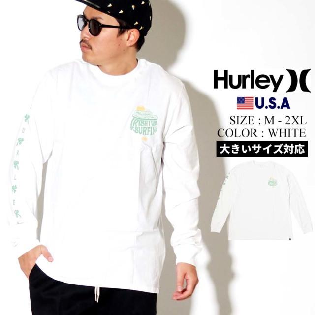 Hurley ハーレー ロンT 長袖Tシャツ メンズ POT O WAVES LONG SLEEVE TEE CN5243 ホワイト