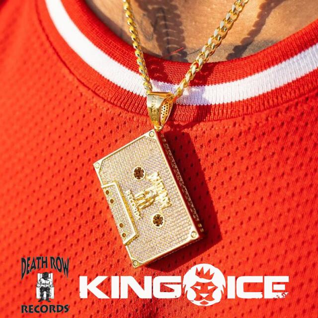 KING ICE X DEATH ROW RECORDS キングアイス デス・ロウ・レコード 14K GOLD ゴールド 金 ネックレス テープ ブリンブリン hiphop ヒップホップ ジュエリー NKX14242 kiat091