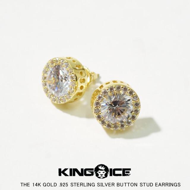 KING ICE キングアイス 14K GOLD ゴールド 金 ピアス ブリンブリン hiphop ヒップホップ ジュエリー ERX12191 kiat096