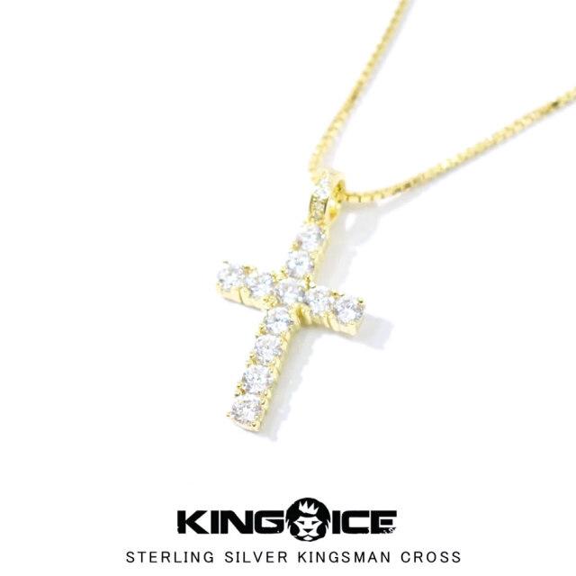 KING ICE キングアイス ネックレス メンズ スターリングシルバーキングスマンクロス NKX12331