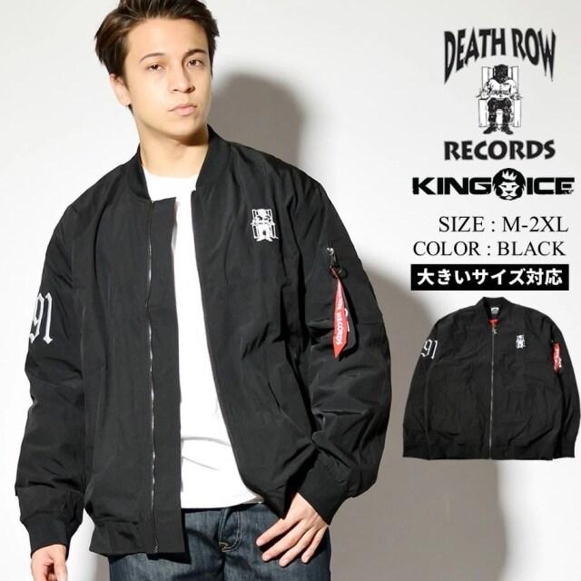 KING ICE キングアイス コラボ MA1 MA-1 フライトジャケット メンズ アウター デス・ロウ・レコード ボンバージャケット APX11017