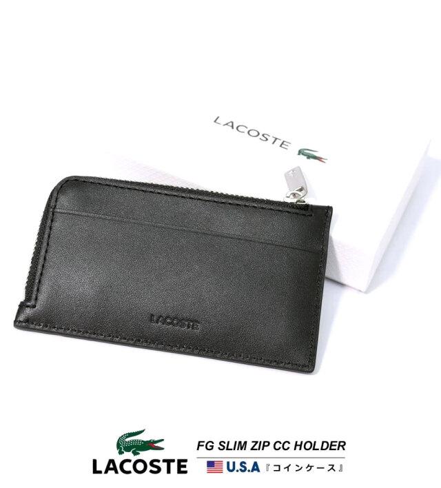 ラコステ LACOSTE カード入れコインケース 財布 メンズ レザー 本革 ブランド USAモデル レディース ユニセックス FG SLIM ZIP CC HOLDER NH1992FG