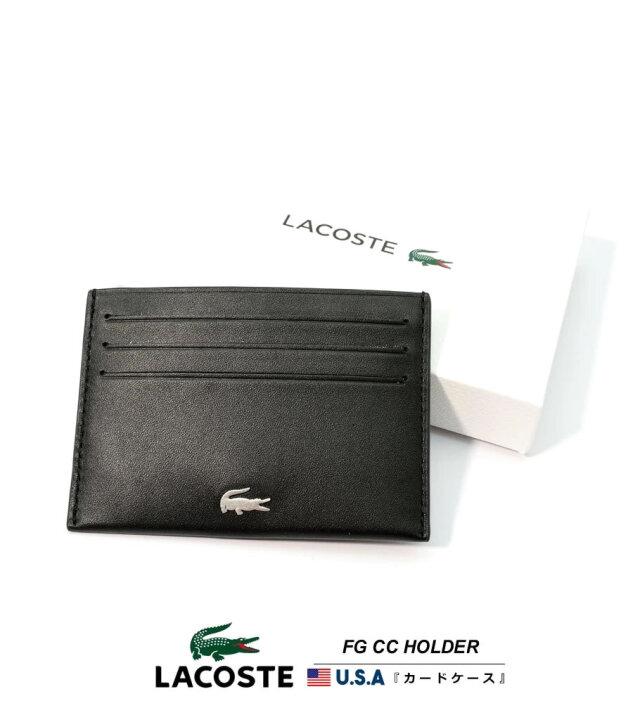 ラコステ LACOSTE カードケース メンズ レザー 本革 ブランド USAモデル レディース ユニセックス FG CC HOLDER NH1346FG