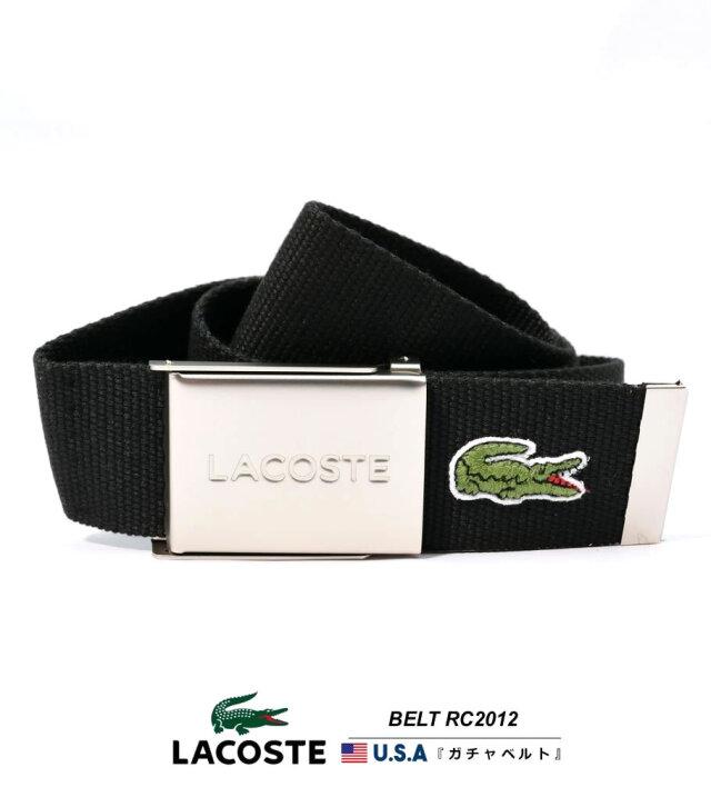 ラコステ LACOSTE 布ベルト メンズ Made in France フランス製 USAモデル レディース ユニセックス BELT RC2012C