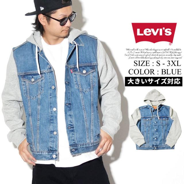 LEVI'S リーバイス ジャケット メンズ 大きいサイズ HYBRID HOODIE TRUCKER 74513 服 通販