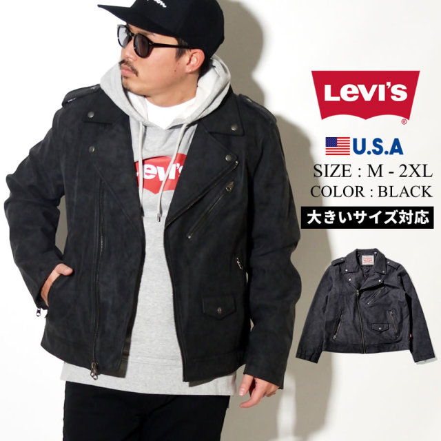 LEVIS (リーバイス) ライダースジャケット FAUX LEATHER LT WEIGHT SOYBEAN PU MOTORCYCLE JACKET (LM0RU130)