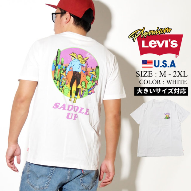 LEVIS (リーバイス) 半袖Tシャツ GRAPHIC CREW NECK TEE SSNL LC WHITE GRAPH (22491-0630)