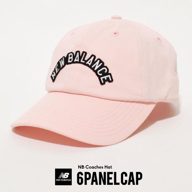 New Balance ニューバランス キャップ メンズ レディース ロゴ ネーム NB COACHES HAT PEACH SODA