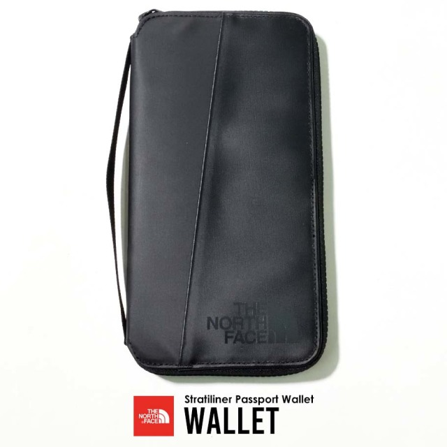 THE NORTH FACE ザノースフェイス 長財布 メンズ レディース ロゴ Stratoliner Passport Wallet NF0A3KWC