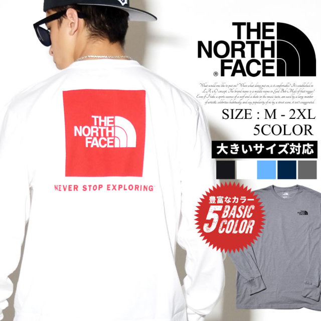 THE NORTH FACE ザノースフェイス ロンT 長袖Tシャツ メンズ Mens L/S Red Box Tee NF0A4M4Q