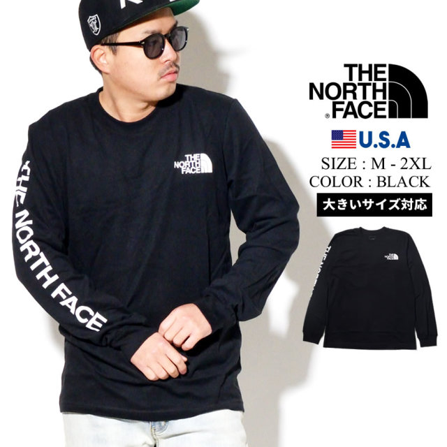 THE NORTH FACE ザノースフェイス ロンT 長袖Tシャツ メンズ Mens L/S TNF Sleeve Hit Tee NF0A471K