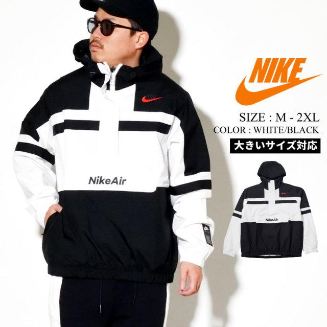 NIKE ナイキ アノラック ジャケット メンズ M NSW NIKE AIR JKT WVN CJ4834 ホワイト ブラック