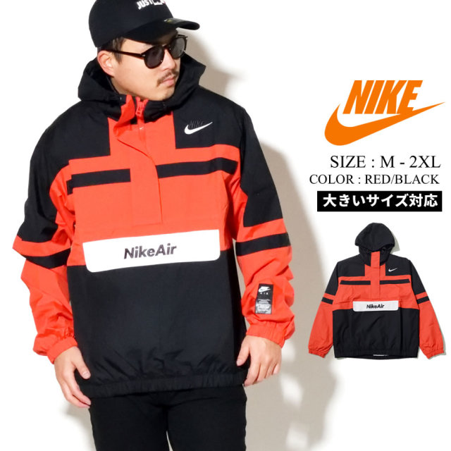NIKE ナイキ アノラック ジャケット メンズ M NSW NIKE AIR JKT WVN CJ4834 レッド ブラック