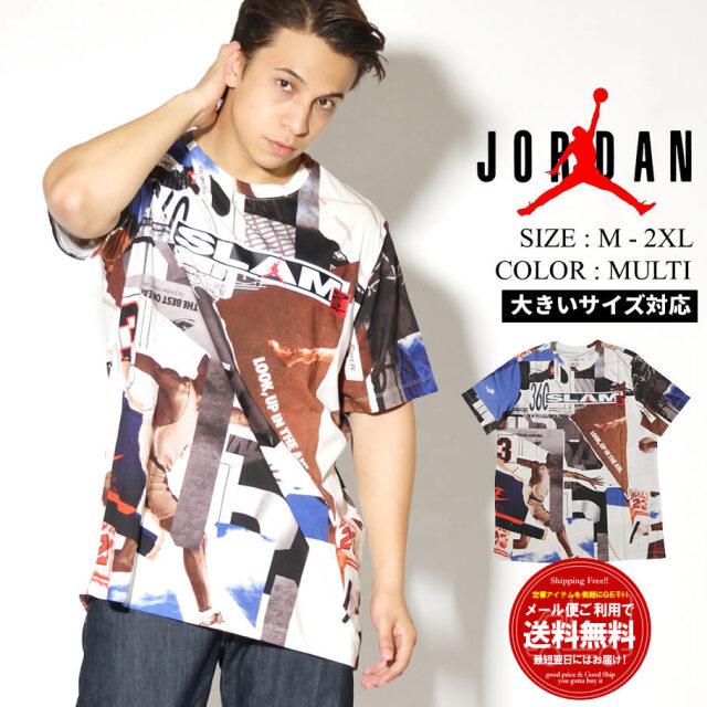 JORDAN ジョーダン 半袖Tシャツ メンズ 大きいサイズ 総柄 M J BRAND PHOTO CREW CJ6298
