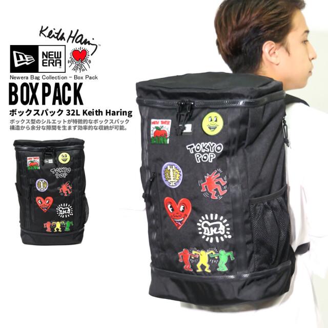 NEW ERA ニューエラ バックパック ボックスパック 32L Keith Haring キース・へリング マルチ ブラック 鞄 12551282