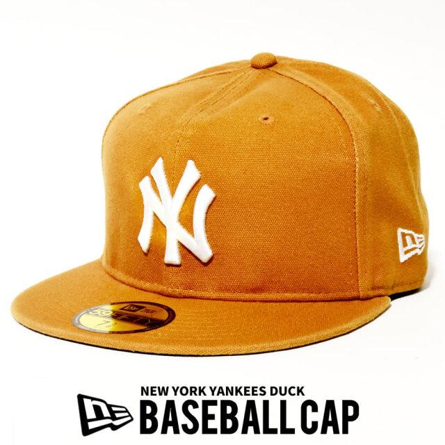 NEW ERA ニューエラ ベースボールキャップ 59FIFTY MLB NY ロゴ ダック生地 12540879