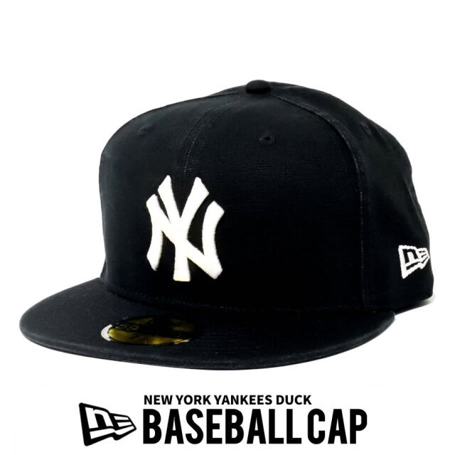 NEW ERA ニューエラ ベースボールキャップ 59FIFTY MLB NY ロゴ ダック生地 12540881