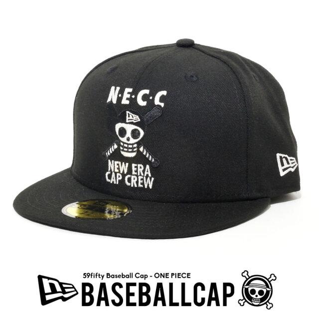 NEW ERA ニューエラ キャップ 59FIFTY ONE PIECE ワンピース NEW ERA CAP CREW ドクロ 海賊旗 ブラック 12541475