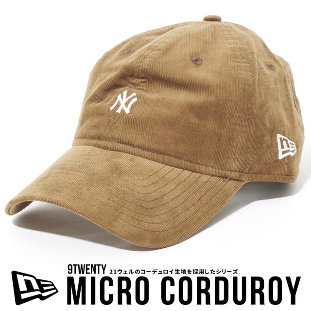 NEW ERA ニューエラ キャップ NYロゴ 9TWENTY ニューヨーク・ヤンキース マイクロコーデュロイ ミニロゴ ブラウン 12540822
