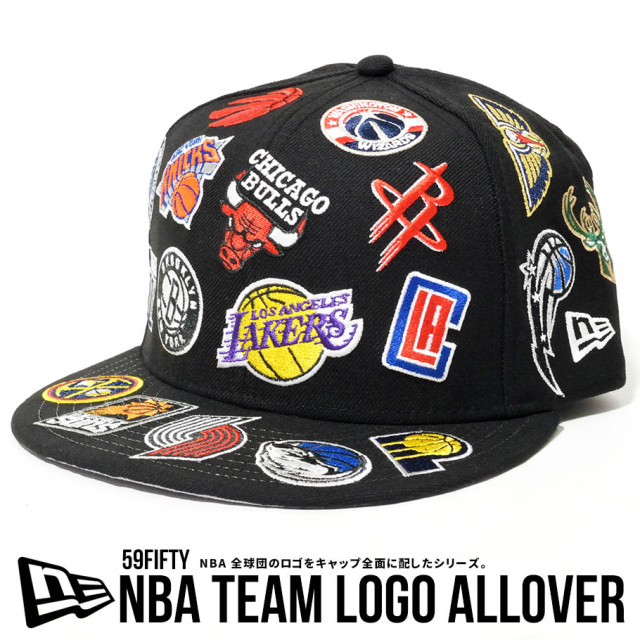 NEW ERA ニューエラ ベースボールキャップ 59FIFTY NBAチームロゴ オールオーバー 帽子 12540892