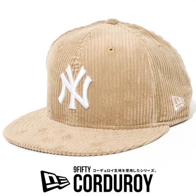 NEW ERA ニューエラ キャップ 9FIFTY コーデュロイ ニューヨーク ヤンキース NYロゴ 帽子 12540597