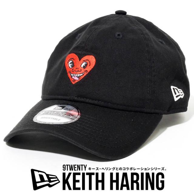 NEW ERA ニューエラ キャップ 9TWENTY Keith Haring キース・へリング ハート ブラック 帽子 12551307