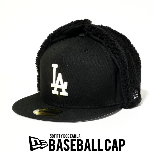 NEW ERA ニューエラ ベースボールキャップ 59FIFTY Dog Ear ロサンゼルス・ドジャース ブラック 12540906