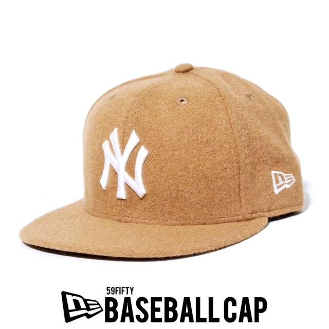 NEW ERA ニューエラ 59FIFTY ニューヨーク・ヤンキース メルトン キャメル × スノーホワイト 12540875