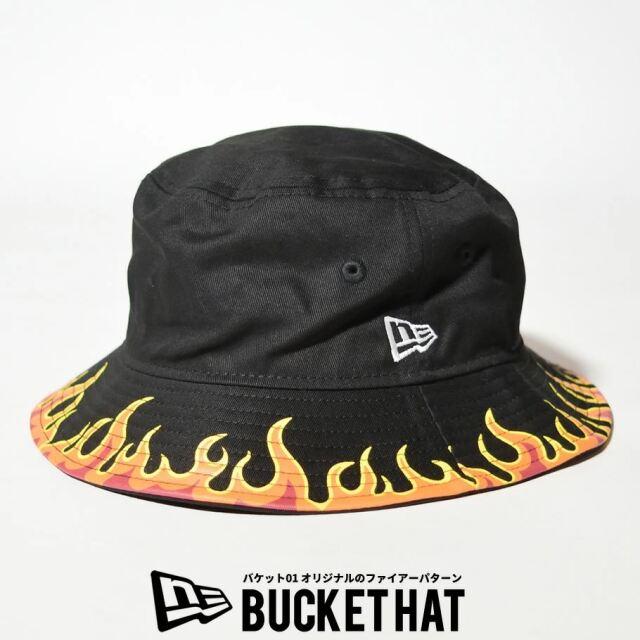 ニューエラ バケットハット 帽子 メンズ レディース NEW ERA バケット01 ファイアーパターン ブラック 12653664