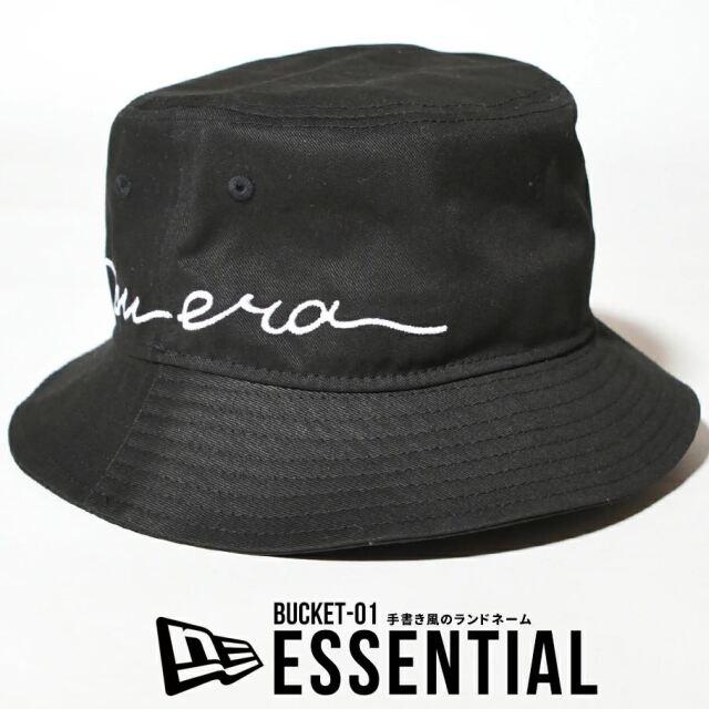 ニューエラ バケットハット 帽子 メンズ レディース NEW ERA バケット01 エッセンシャル ブラック 12653665