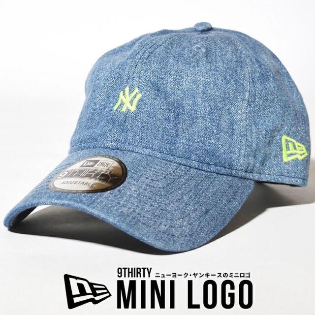ニューエラ キャップ 帽子 メンズ レディース NEW ERA 9THIRTY ニューヨーク・ヤンキース ウォッシュドデニム×ネオンイエロー 12653796