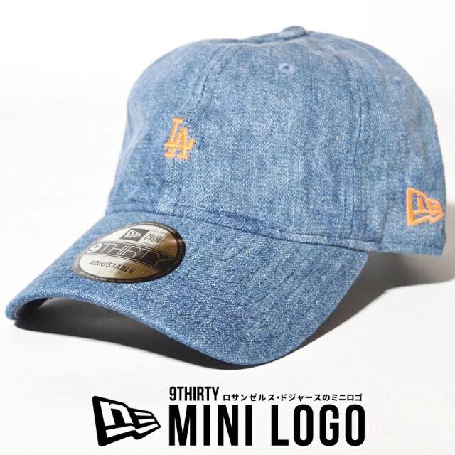 ニューエラ キャップ 帽子 メンズ レディース NEW ERA 9THIRTY ロサンゼルス・ドジャース ウォッシュドデニム×ネオンオレンジ 12653802