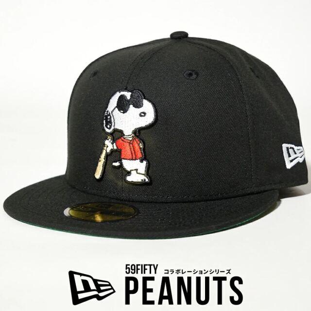 ニューエラ キャップ 帽子 メンズ コラボ NEW ERA 59FIFTY PEANUTS ピーナッツ スヌーピー ジョー・クール ブラック 12653873