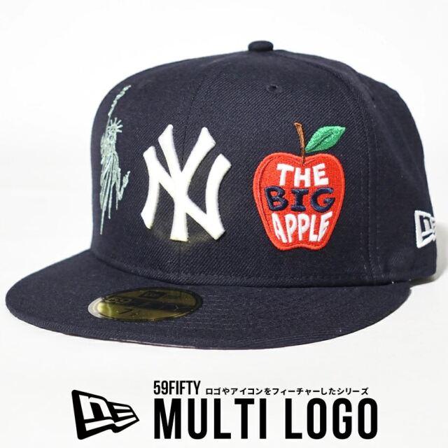 ニューエラ キャップ 帽子 メンズ NEW ERA 59FIFTY ニューヨーク・ヤンキース マルチロゴ ネイビー 12653880
