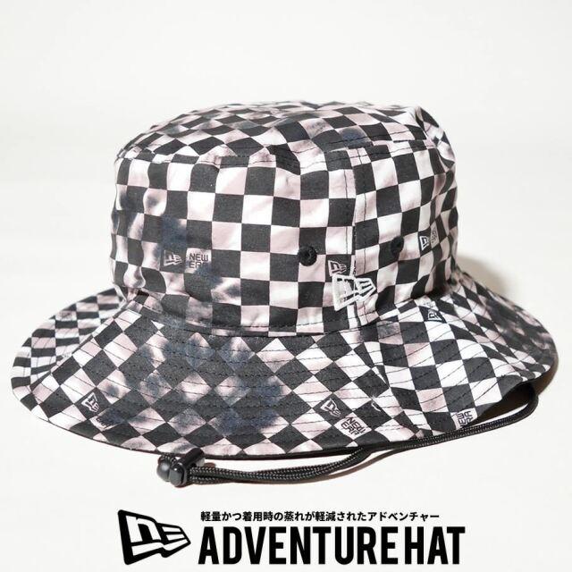 ニューエラ NEW ERA サファリハット 帽子 メンズ 軽量 アドベンチャーライト タイダイチェック ブラック 2021 春夏 新作