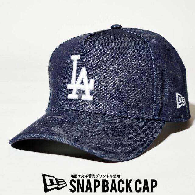 ニューエラ NEW ERA キャップ 帽子 メンズ レディース 9FORTY A-FRAME  ロサンゼルス・ドジャース スプラッシュペイント グローインザダーク インディゴデニム