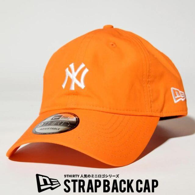 ニューエラ NEW ERA キャップ 帽子 メンズ レディース 9THIRTY ニューヨーク・ヤンキース タイプライター ミニロゴ パンプキンオレンジ 2021 春夏 新作