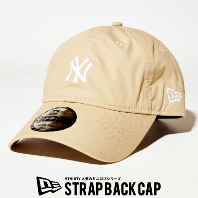 ニューエラ NEW ERA キャップ 帽子 メンズ レディース 9THIRTY ニューヨーク・ヤンキース タイプライター ミニロゴ キャメル 2021 春夏 新作