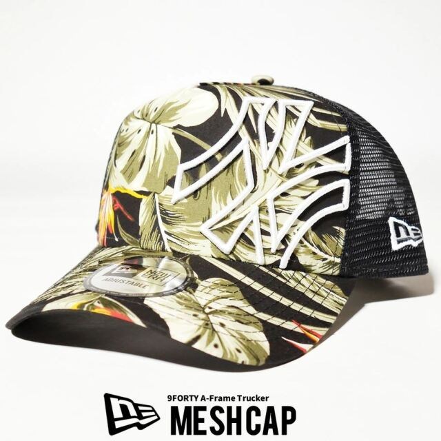 ニューエラ NEW ERA メッシュキャップ 帽子 メンズ レディース 9FORTY A-FRAME トラッカー ニューヨーク・ヤンキース ボタニカル ブラック 2021 春夏 新作
