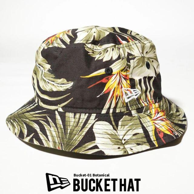 ニューエラ NEW ERA バケットハット 帽子 メンズ レディース バケット01 ブラックボタニカル 2021S/S 春 夏 新作