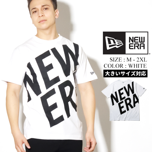 NEW ERA ニューエラ Tシャツ メンズ 半袖 ホワイト ZOOM UP LOGO 12325128