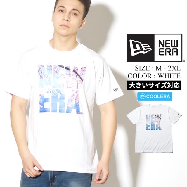 NEW ERA ニューエラ 半袖 パフォーマンス Tシャツ 桜 富士山 スクエアニューエラ ホワイト レギュラーフィット 12325113