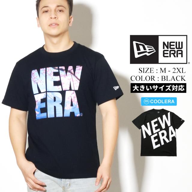 NEW ERA ニューエラ 半袖 パフォーマンス Tシャツ 桜 富士山 スクエアニューエラ ブラック レギュラーフィット 12325114