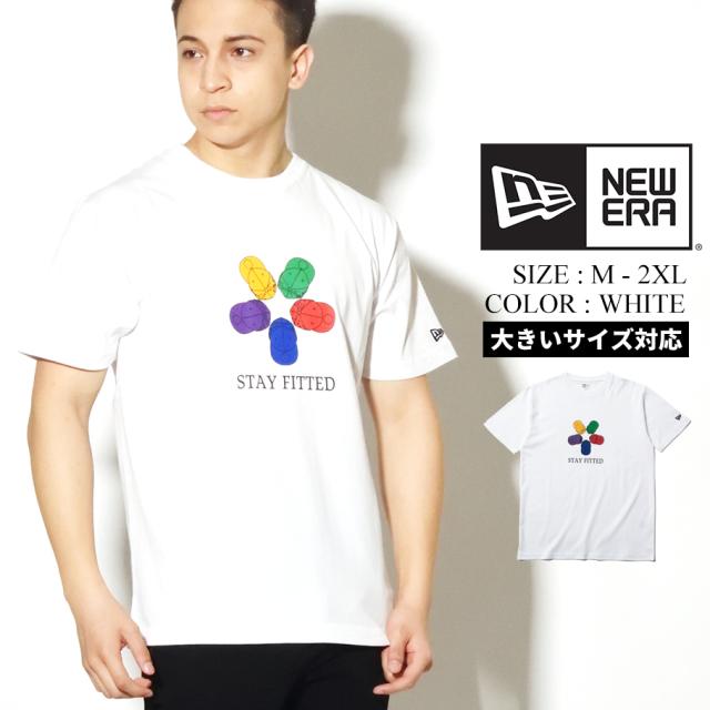 NEW ERA ニューエラ コットン Tシャツ STAY FITTED ホワイト レギュラーフィット 12325152